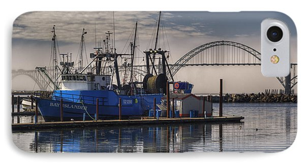 Bay Island Docked - Newport Oregon IPhone Case by Mark Kiver