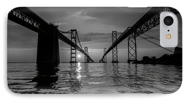 IPhone Case featuring the photograph Bay Bridge Strength by Jennifer Casey
