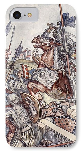 Bayard Defends The Bridge, Illustration IPhone Case