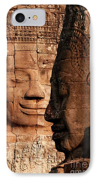 Bayon Faces 02 IPhone Case