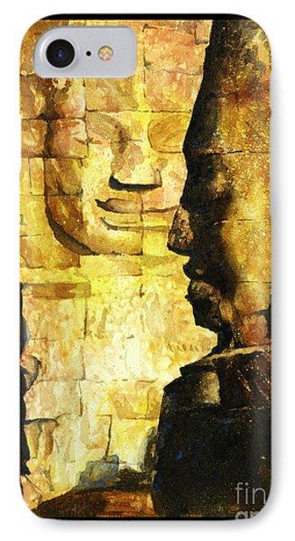 Bayon Khmer Temple At Angkor Wat Cambodia IPhone Case