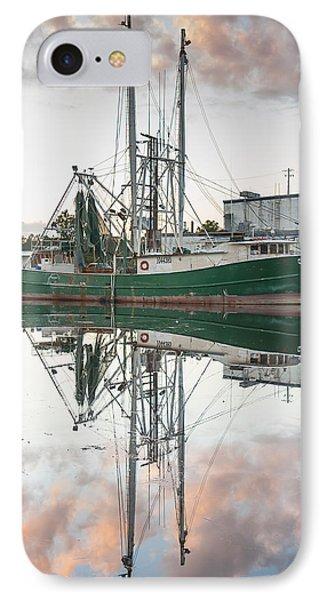 Bayou La Batre' Al Shrimp Boat Reflections 42 IPhone Case