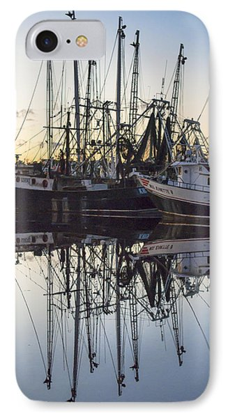 Bayou La Batre' Al Shrimp Boat Reflections 43 IPhone Case