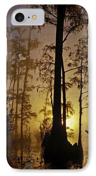 Bayou Sunrise Phone Case by Lianne Schneider