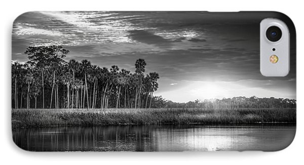 Bayou Sunset-b/w IPhone Case