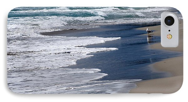 Baywatcher - A Seagull Waits At Shore Of Son Bou Beach Fishing Time Arrive IPhone Case by Pedro Cardona