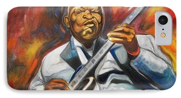 IPhone Case featuring the painting B.b King- 2 by Emery Franklin