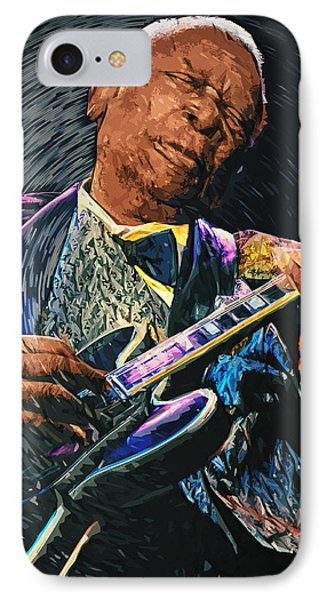 B.b. King IPhone Case by Taylan Apukovska