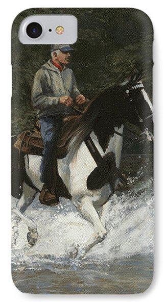 Big Creek Man On Spotted Horse IPhone Case