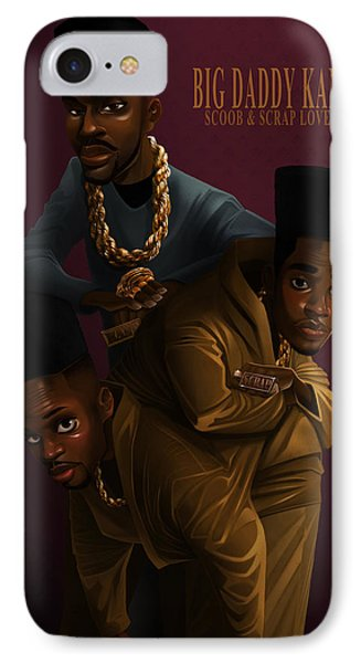 IPhone Case featuring the drawing Bdk Color Bg by Nelson Dedos Garcia