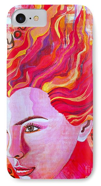 IPhone Case featuring the painting Be Bold Be You by Julie  Hoyle