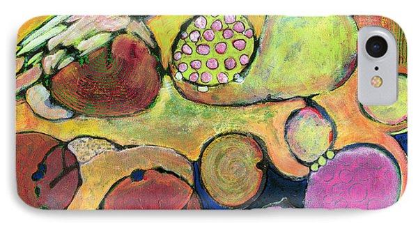 Be Courageous Abstract Art Blenda Studio IPhone Case