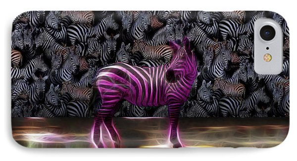 Be Courageous - Be Different - Zebra IPhone Case