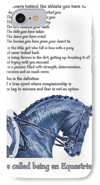 Be Equestrian Quote IPhone Case by JAMART Photography