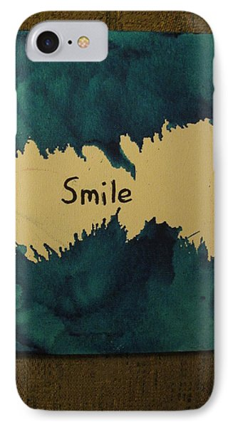 IPhone Case featuring the painting Be Happy In A Stormy Sea by Lawrence Christopher