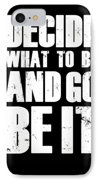 Be It Poster Black IPhone Case
