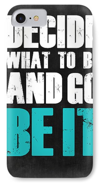 Be It Poster Grey IPhone Case