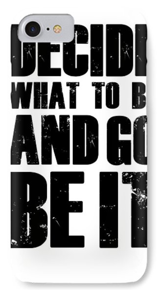 Be It Poster White IPhone Case