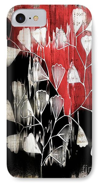 Be-leaf - Red Black A05bt3a IPhone Case by Variance Collections
