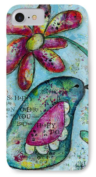 Be So Happy IPhone Case by Kirsten Reed