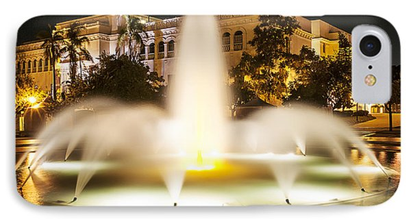 Bea Evenson Fountain At Night IPhone Case by Lee Kirchhevel