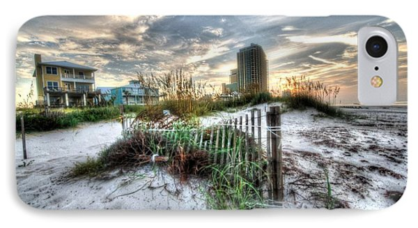 Beach And Buildings IPhone Case by Michael Thomas