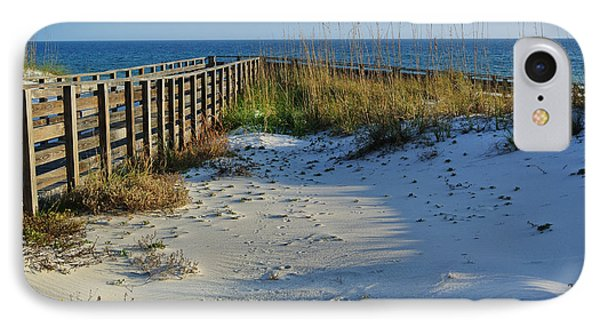 Beach And The Walkway  IPhone Case by Michael Thomas