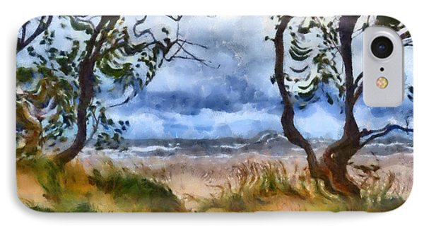 Beach And Trees IPhone Case