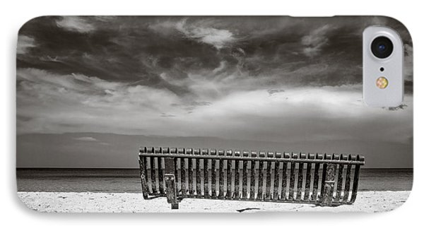 Beach Bench IPhone Case by Dave Bowman