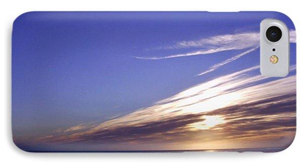 Beach Blue Sunset Phone Case by Barbara St Jean