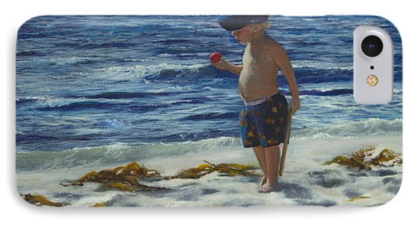 IPhone Case featuring the painting Beach Boy by Jeanette French