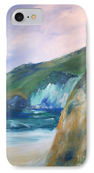 IPhone Case featuring the painting Beach California by Eric  Schiabor