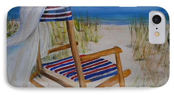 Beach Chair IPhone Case by Debbie Baker