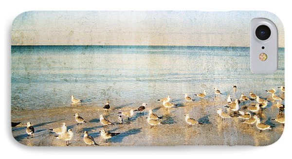 Beach Combers - Seagull Art By Sharon Cummings IPhone 7 Case by Sharon Cummings