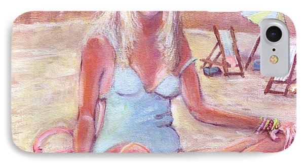 IPhone Case featuring the painting Beach Day by Rita Brown