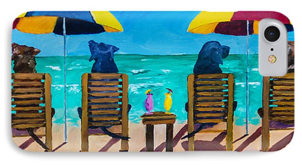 Beach Dogs Phone Case by Roger Wedegis