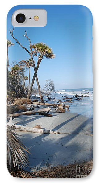 Beach Erosion IPhone Case by Kathy Gibbons