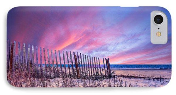 Beach Fences Phone Case by Debra and Dave Vanderlaan