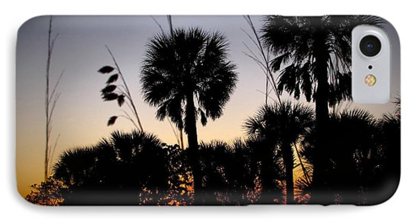 Beach Foliage At Sunset Phone Case by Phil Penne