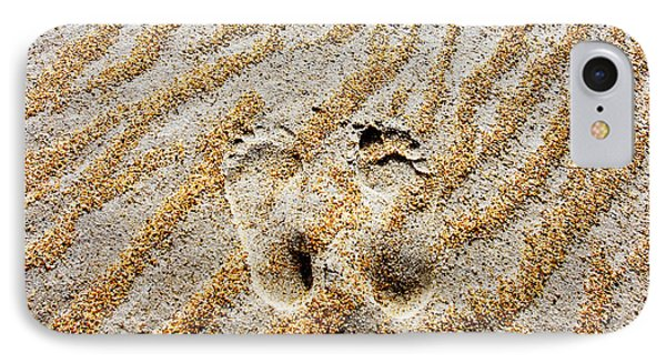 Beach Foot Prints IPhone Case by Sean Davey