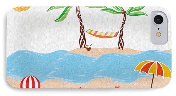 Beach Fun Illustration IPhone Case