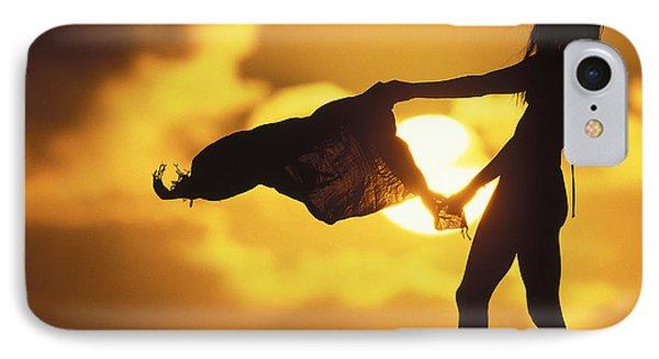 Shore iPhone 7 Case - Beach Girl by Sean Davey