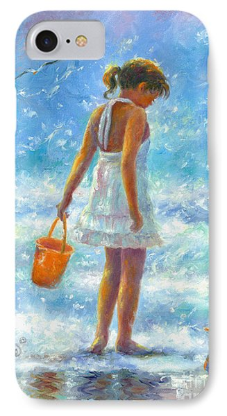 Beach Girl IPhone Case by Vickie Wade