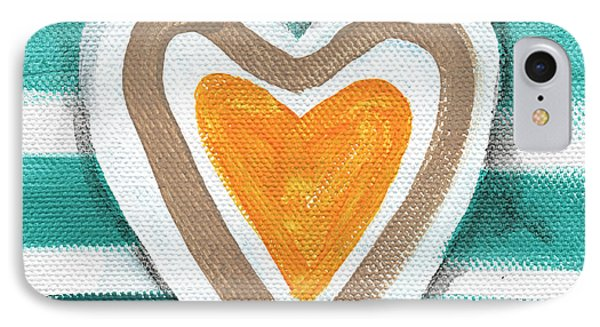 Beach Glass Hearts IPhone Case by Linda Woods