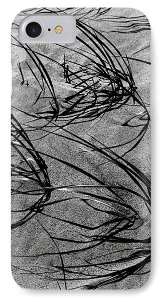 Beach Grass Black And White IPhone Case