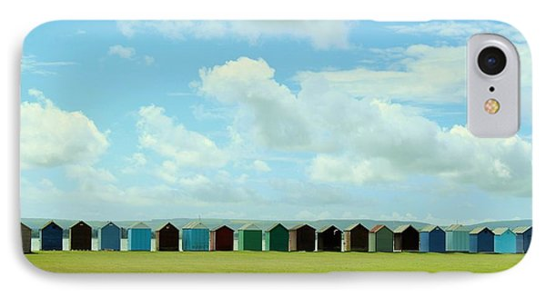 Beach Huts IPhone Case by Katy Mei