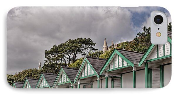 Beach Huts Langland Bay Swansea 3 IPhone Case by Steve Purnell