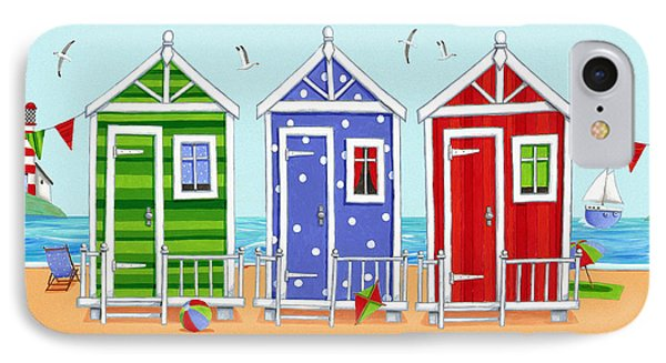 Beach Huts Phone Case by Peter Adderley