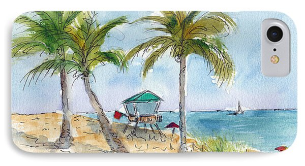 Beach In The Morning IPhone Case by Pat Katz