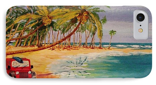 Beach Jeepin' IPhone Case by Mike Caitham